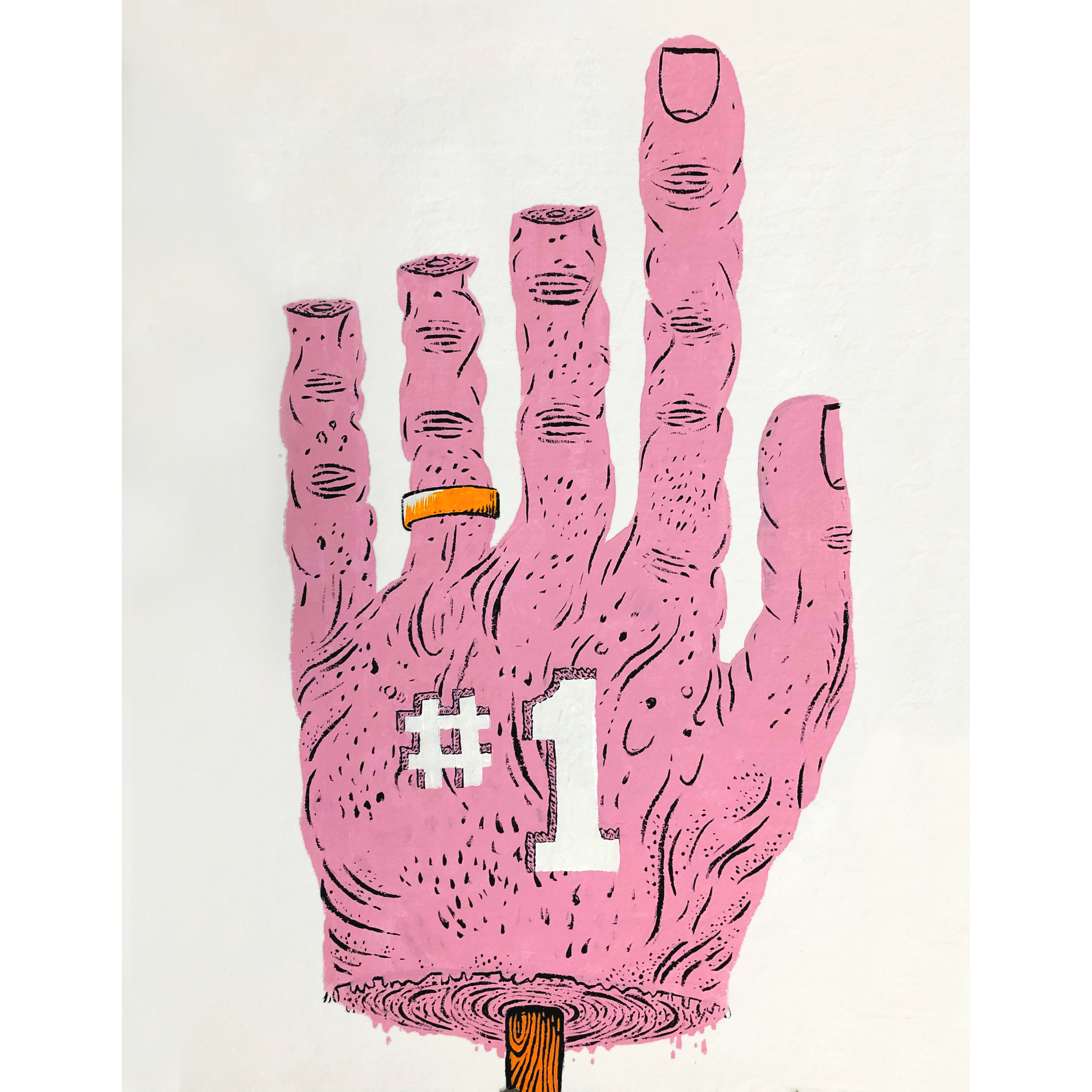 Paul Gagner #1, 2019, Flashe on rag paper, 15 x 22 inches
